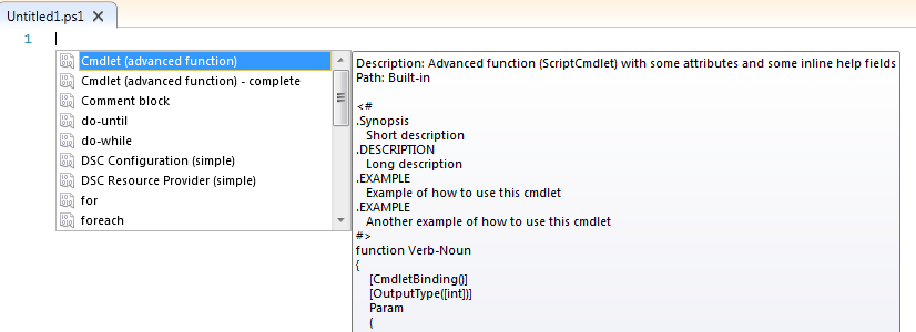 Creating PowerShell ISE v3 (and later) Code Snippets