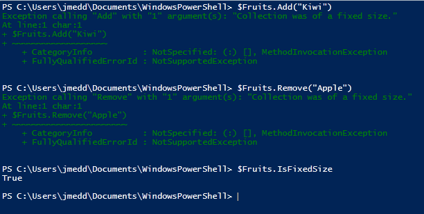 Adding and Removing Items from a PowerShell Array | Jonathan Medd's Blog