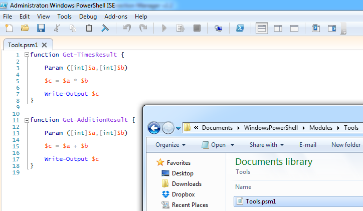 how to create powershell functions